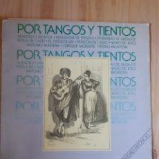 Discos de vinilo: LP, POR TANGOS Y TIENTOS, AÑO 1986. Lote 202808101