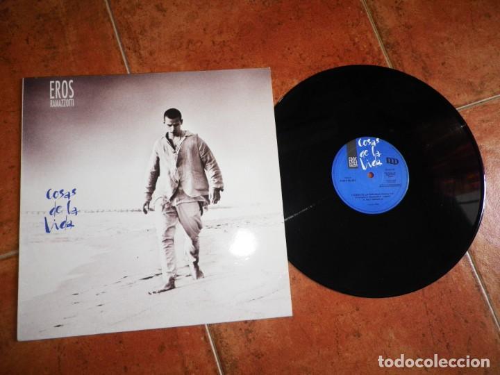 EROS RAMAZZOTTI COSAS DE LA VIDA CANTADO EN ESPAÑOL MAXI SINGLE VINILO ESPAÑA DEL AÑO 1993 3 TEMAS (Música - Discos de Vinilo - Maxi Singles - Canción Francesa e Italiana)