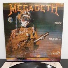 Discos de vinilo: DIFICIL!! MEGADETH. SO FAR, SO GOOD...SO WHATS. Lote 202825092