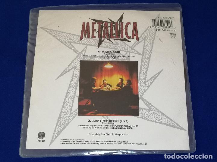 Discos de vinilo: METALLICA (MAMA SAID)AÑO 1996 U.K. - Foto 3 - 202826938