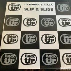 Discos de vinilo: DJ KARMA & NIKI X – SLIP & SLIDE 1994. Lote 202832191