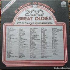 Discos de vinilo: 200 GREAT OLDIES I'LL ALWAYS REMEMBER... (FLASH BACK ST10X100) (10 LPS). Lote 202842042