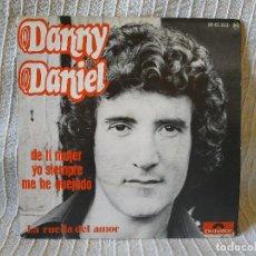 Discos de vinilo: DANNY DANIEL - DE TI MUJER YO SIEMPRE ME HE QUEJADO / LA RUEDA DEL AMOR - SINGLE POLYDOR 1976 NUEVO. Lote 202843902