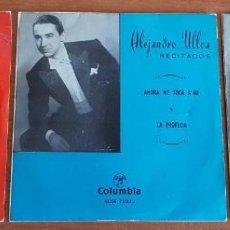 Discos de vinilo: ALEJANDRO ULLOA / RECITADOS / CONJUNTO DE 3 EP DE 1962 / CON USO DE LA ÉPOCA. ***/*** VER FOTOS.. Lote 202861010