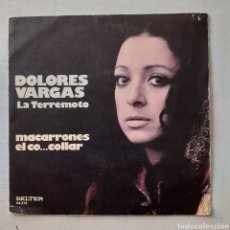 Discos de vinilo: DOLORES VARGAS LA TERREMOTO. MACARRONES. BELTER 08.373. 1974. FUNDAVG+. DISCO VG+.. Lote 202872027