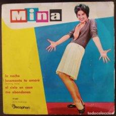 Discos de vinilo: MINA – LA NOCHE - EP DISCOPHON SPAIN 1960. Lote 287842533