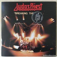Discos de vinilo: JUDAS PRIEST – BREAKING THE LAW (LTD. ED), + PARCHE, UK 1980 CBS. Lote 202899513
