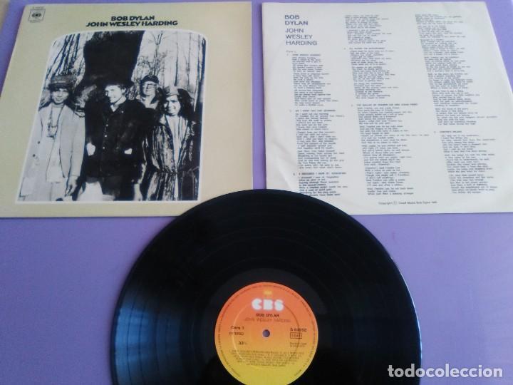 LP. BOB DYLAN. JOHN WESLEY HARDING, SELLO CBS S 63252. AÑO 1970 + ENCARTE CON LETRAS. (Música - Discos - LP Vinilo - Pop - Rock Internacional de los 50 y 60)
