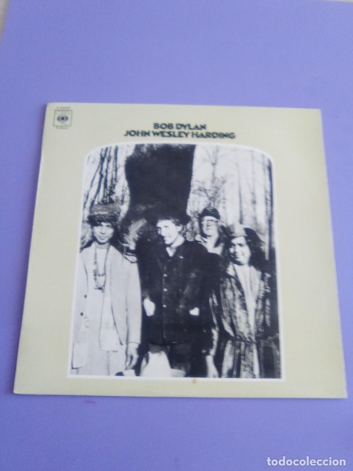 Discos de vinilo: LP. BOB DYLAN. JOHN WESLEY HARDING, SELLO CBS S 63252. AÑO 1970 + ENCARTE CON LETRAS. - Foto 2 - 202904043