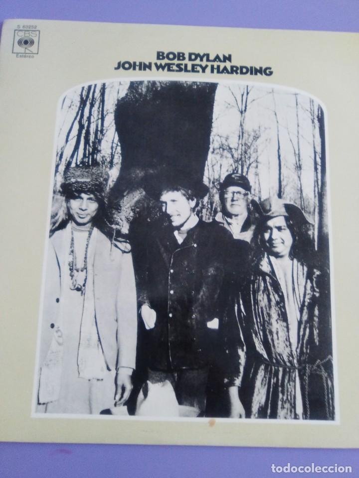 Discos de vinilo: LP. BOB DYLAN. JOHN WESLEY HARDING, SELLO CBS S 63252. AÑO 1970 + ENCARTE CON LETRAS. - Foto 3 - 202904043