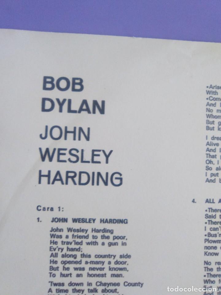 Discos de vinilo: LP. BOB DYLAN. JOHN WESLEY HARDING, SELLO CBS S 63252. AÑO 1970 + ENCARTE CON LETRAS. - Foto 9 - 202904043