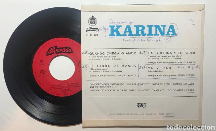 Discos de vinilo: KARINA, CANTA EN PORTUGUÉS, CUANDO LLEGA EL AMOR, QUANDO CHEGA O AMOR - Foto 3 - 202910442