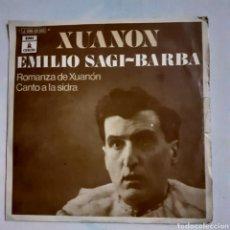Discos de vinilo: EMILIO SAGI-BARBA. ROMANZA DE XUANON... PROMO. ODEON J 006-20.583. SOLO FUNDA VG+.. Lote 202915267