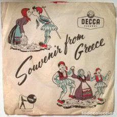 Discos de vinilo: SOUVENIR FROM GREECE. DECCA-TOP RANK TREG 901 EP RED VINYL. Lote 202915268