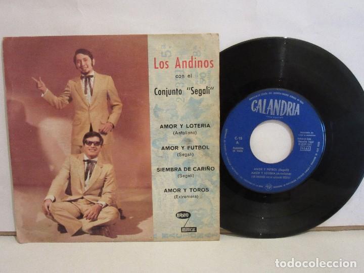 LOS ANDINOS CON EL CONJUNTO SEGALI - AMOR Y FUTBOL +3 - EP - 1971 - VG/VG (Música - Discos de Vinilo - EPs - Grupos y Solistas de latinoamérica)