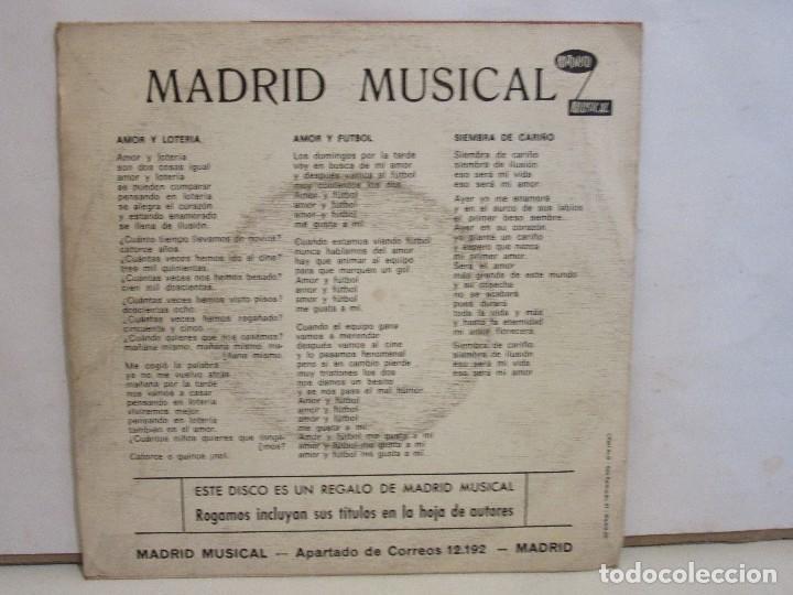 Discos de vinilo: Los Andinos Con El Conjunto Segali - Amor y Futbol +3 - EP - 1971 - VG/VG - Foto 2 - 202930523