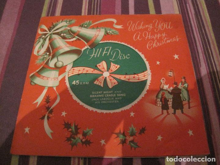 SINGLE FLEXIDISCO JACK LAROQUE ORQUESTA SILENT NIGHT XR1 1959 UK CHRISTMAS NAVIDAD SINGLE GATEFOLD (Música - Discos - Singles Vinilo - Orquestas)
