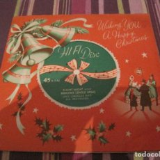 Discos de vinilo: SINGLE FLEXIDISCO JACK LAROQUE ORQUESTA SILENT NIGHT XR1 1959 UK CHRISTMAS NAVIDAD SINGLE GATEFOLD. Lote 202934351