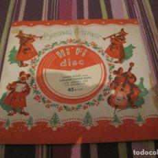 Discos de vinilo: SINGLE FLEXIDISCO JACK LAROQUE ORQUESTA SILENT NIGHT XR21959 UK CHRISTMAS NAVIDAD SINGLE GATEFOLD. Lote 202934775