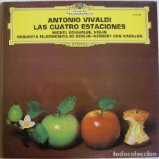 Discos de vinilo: ANTONIO VIVALDI-LAS CUATRO ESTACIONES (DEUTSCHE GRAMMOPHON) FILARMONICA BERLIN-HERBERT VON KARAJAN. Lote 202935542