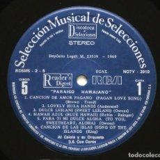 Discos de vinilo: AL CAIOLA Y SU ORQUESTA - PARAISO HAWAIANO / MOON OVER HAWAII - HIPSTER COCKTAIL ULTRA COOL MUSIC. Lote 202936315
