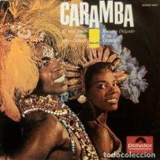 Discos de vinilo: LP - ROBERTO DELGADO Y SU ORQUESTA: CARAMBA! - LATIN - HIPSTER - RETRO - LOUNGE MUSIC. Lote 202937627
