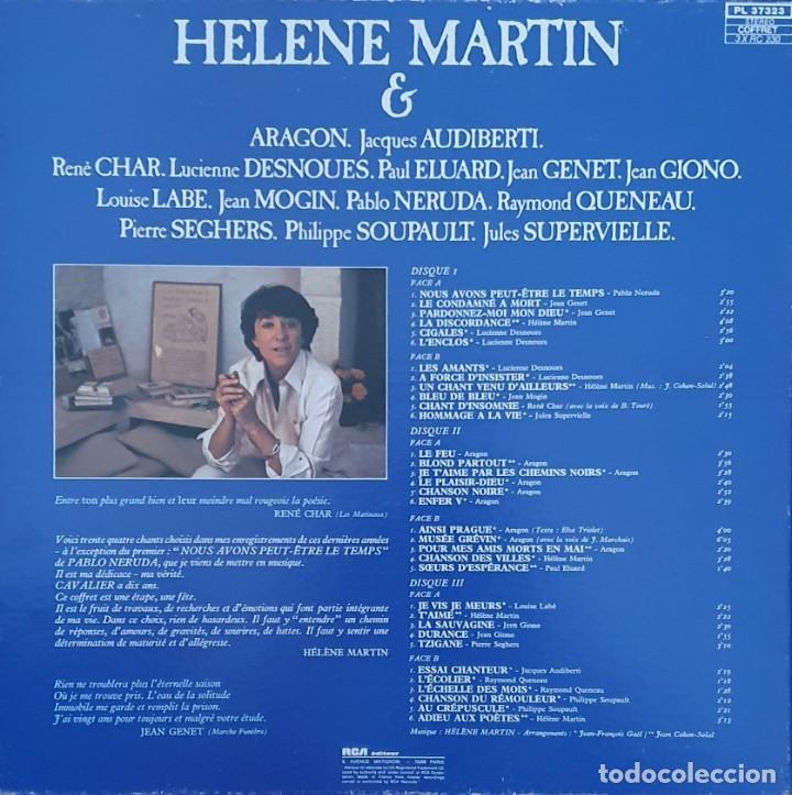 "Discos de vinilo: HELENE MARTIN & LES POETES ""Eponyme"" PL 37323 FRANCE ARTISTE / ARTIST : HELENE MARTIN TITRE / TITLE - Foto 3 - 202948701"