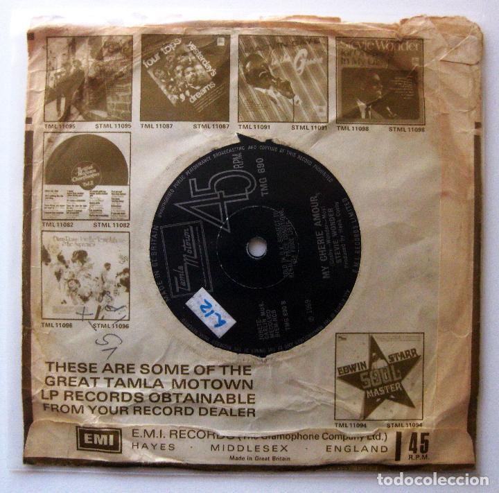 Discos de vinilo: Stevie Wonder - I Dont Know Why / My Cherie Amour - Single Tamla Motown 1969 UK BPY - Foto 2 - 202950290