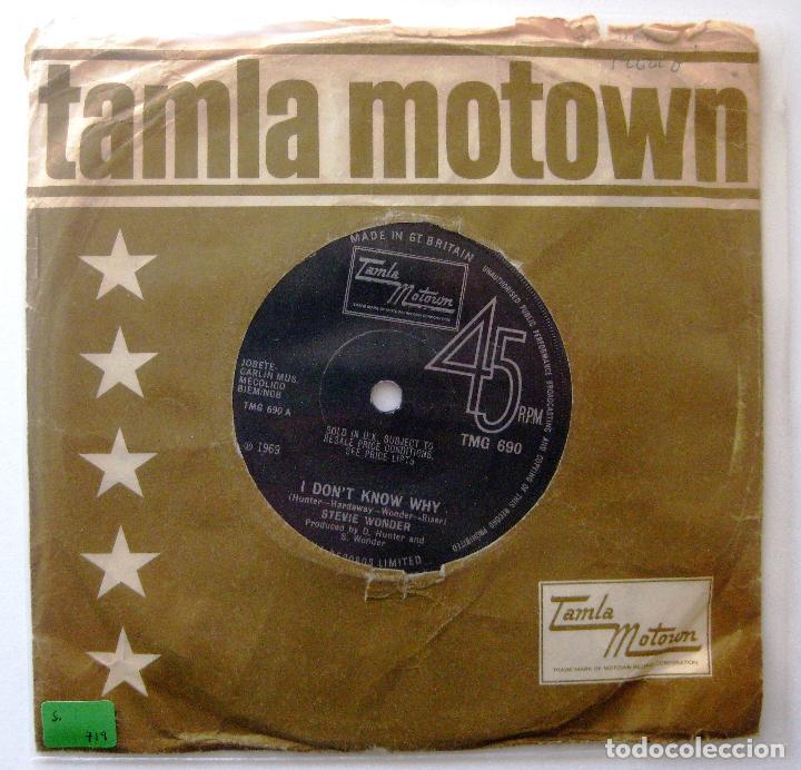 STEVIE WONDER - I DON'T KNOW WHY / MY CHERIE AMOUR - SINGLE TAMLA MOTOWN 1969 UK BPY (Música - Discos - Singles Vinilo - Funk, Soul y Black Music)