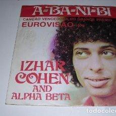Discos de vinilo: A-BA-NI-BI VENCEDORA EUROVISIÓN 1981 SINGLE EDICIÓN PORTUGUESA. Lote 202956721