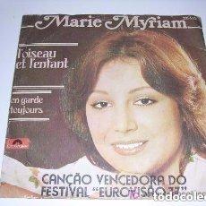 Discos de vinilo: MARIE MYRIAM L'OISEAU ET L'ENFANT GANADORA DE EUROVISIÓN 1977. Lote 202956811