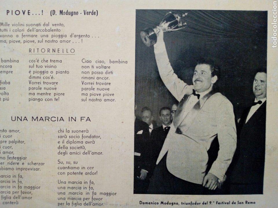Discos de vinilo: LP: 9º Festival de la canción SAN REMO 1959 (Telefunken 1969) Domenico Modugno (PIOVE) Natalino Otto - Foto 4 - 202961572