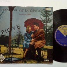 Discos de vinilo: LP: 9º FESTIVAL DE LA CANCIÓN SAN REMO 1959 (TELEFUNKEN 1969) DOMENICO MODUGNO (PIOVE) NATALINO OTTO. Lote 202961572