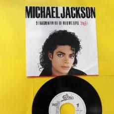 Discos de vinilo: MICHAEL JACKSON- BAD 9 FRAGMANTE UIT DE NIEUWE ELPPE-SINGLE PROMO HOLANDES. Lote 202974438