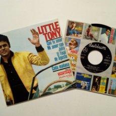 Discos de vinilo: EP: LITTLE TONY - CON TU AMOR + MI AMOR CON JULIA + FINAL DE AGOSTO + CADA MAÑANA (VERGARA, 1966). Lote 202976973