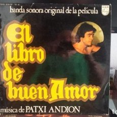 Discos de vinilo: *** PATXI ANDION - EL LIBRO DE BUEN AMOR (B.S.O. DE LA PELICULA) - LP AÑO 1975 - LEER DESCRIPCIÓN. Lote 202984613