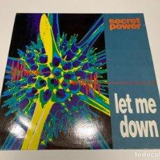 Discos de vinilo: SECRET POWER – LET ME DOWN 1994. Lote 202992555