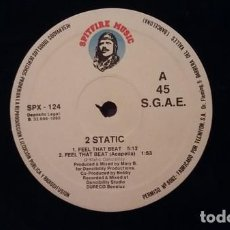 Discos de vinilo: 2 STATIC _– FEEL THAT BEAT. Lote 202995506