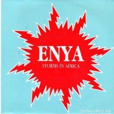 Discos de vinilo: ENYA - STORMS IN AFRICA-REMIX- SINGLE PROMO SPAIN 1989. Lote 221235026