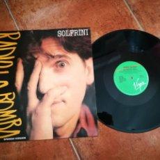 Discos de vinilo: ALBERTO SOLFRINI RADIO LA BOMBA CANTADO EN ESPAÑOL MAXI SINGLE VINILO AÑO 1988 VIRGIN ESPAÑA 3 TEMAS. Lote 202997255