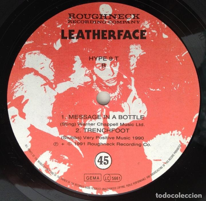 Discos de vinilo: LEATHERFACE Maxi vinilo MESSAGE IN A BOTLE (Sting) NOT SUPERSTITIOUS - Foto 3 - 203005906
