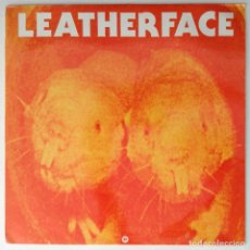 Discos de vinilo: LEATHERFACE MAXI VINILO MESSAGE IN A BOTLE (STING) NOT SUPERSTITIOUS. Lote 203005906