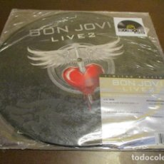 Discos de vinilo: BON JOVI - MAXISINGLE - PICTURE DISC - LIVE 2 - I'LL BE THERE FOR YOU - RUNAWAY - BAD MEDICINE. Lote 195984400