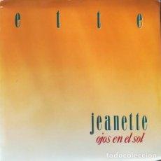 Discos de vinilo: JEANETTE - EX PIC NIC - KIT PROMOCIONAL OJOS EN EL SOL - LP + FOLDER - 1984 #. Lote 203017906