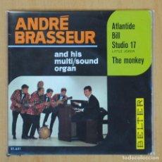 Disques de vinyle: ANDRE BRASSEUR AND HIS MULTI SOUND ORGAN - ATLANTIDE + 3 - EP. Lote 203030896