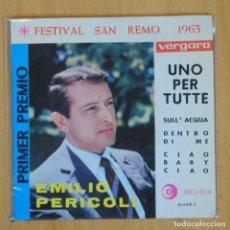 Discos de vinilo: EMILIO PERICOLI - UNO PER TUTTE + 3 - EP. Lote 203031773