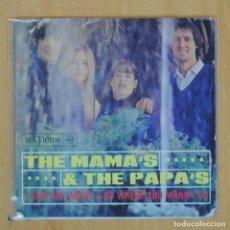 Discos de vinil: THE MAMAS & THE PAPAS - I SAW HER AGAIN / GO WHERE YOU WANNA GO - SINGLE. Lote 203032408