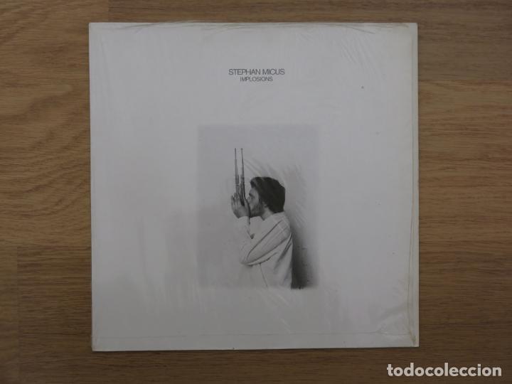 LP STEPHAN MICUS IMPLOSIONS JAN GARBAREK NANA VASCONCELOS JAZZ STEPHANE GRAPPELLI MUSICA ETNICA (Música - Discos - LP Vinilo - Jazz, Jazz-Rock, Blues y R&B)