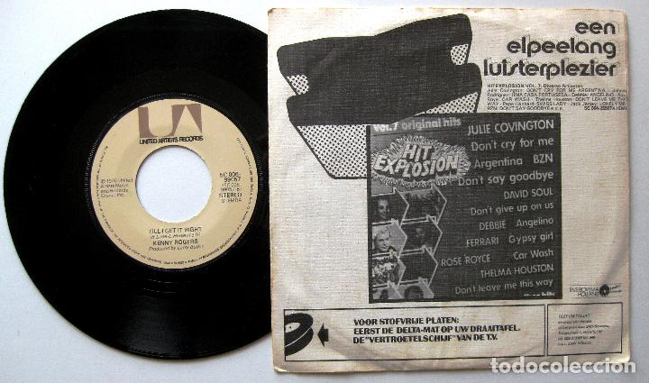 Discos de vinilo: Kenny Rogers - Lucille / Till I Get It Right - Single United Artists 1976 Holanda BPY - Foto 2 - 203035473