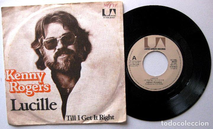 KENNY ROGERS - LUCILLE / TILL I GET IT RIGHT - SINGLE UNITED ARTISTS 1976 HOLANDA BPY (Música - Discos - Singles Vinilo - Country y Folk)